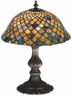 Meyda Tiffany 27170 FISHSCALE Tiffany Table Lamp Lighting