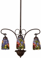 Meyda Tiffany 27414 Rosebush Tiffany Mini Ceiling Chandelier