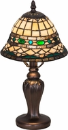 Meyda Tiffany 27535 Tiffany Roman Tiffany Beige Green Table Light