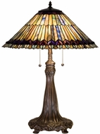 Meyda Tiffany 27562 Tiffany Jeweled Peacock Tiffany Table Light