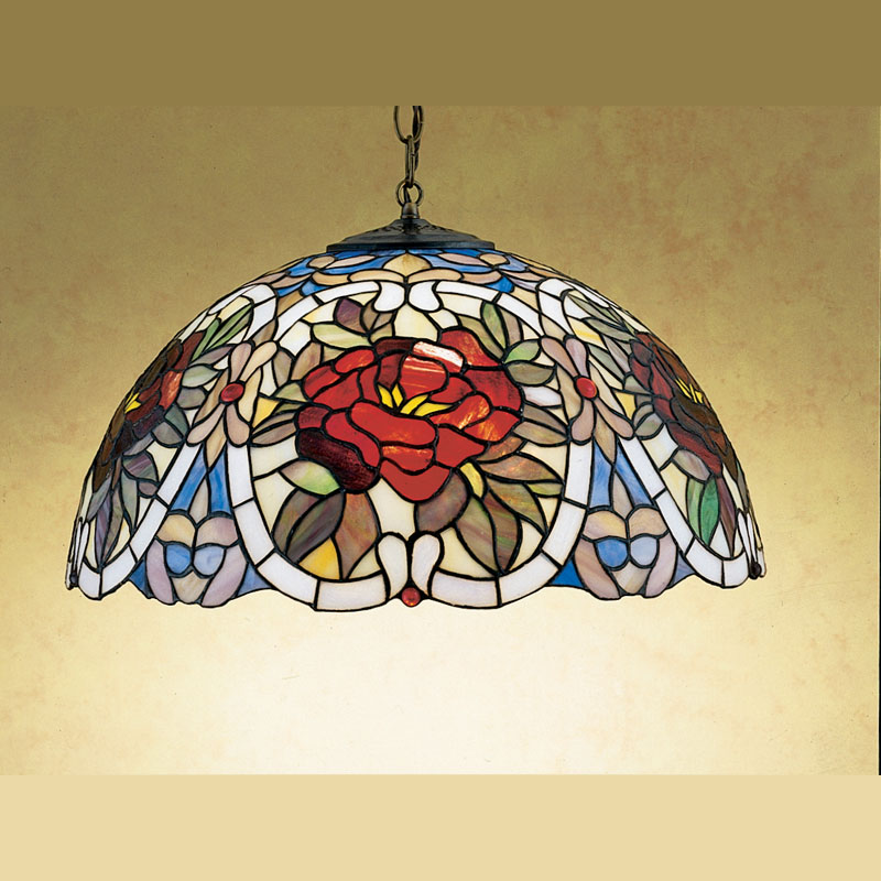 Meyda Tiffany 27600 Renaissance Rose 20 Inch Diameter Lighting Pendant