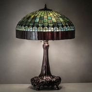 Meyda Tiffany 27825 Tiffany Candice Tiffany Mahogany Bronze Table Lamp