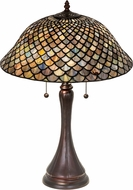 Meyda Tiffany 28369 Tiffany Fishscale Tiffany Green / Blue Table Lighting