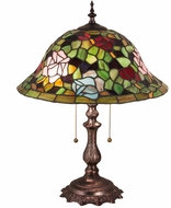 Meyda Tiffany 28406 Tiffany Rosebush Tiffany Antique Table Lighting