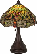 Meyda Tiffany 28460 Tiffany Hanginghead Dragonfly Tiffany Orange Green Lighting Table Lamp