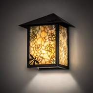 Meyda Tiffany 28473 Seneca Craftsman Brown Outdoor Wall Sconce
