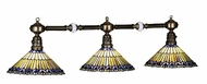 Meyda Tiffany 28501 Jeweled Peacock 45 Inch Wide 3 Lamp Tiffany Kitchen Island Lighting