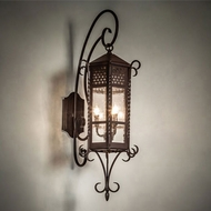 Meyda Tiffany 28667 Old London Traditional Bronze Exterior Wall Sconce Lighting