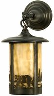 Meyda Tiffany 28785 Fulton Country Craftsman Brown Exterior Wall Light Sconce