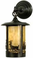 Meyda Tiffany 28786 Fulton Rustic Craftsman Brown Exterior Wall Sconce Light