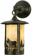 Meyda Tiffany 28791 Fulton Country Craftsman Brown Exterior Wall Sconce
