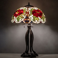 Meyda Tiffany 28804 Renaissance Tiffany Mahogany Bronze Lighting Table Lamp