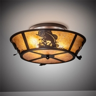 Meyda Tiffany 28821 Leaping Bass Cafe-Noir Ceiling Light Fixture