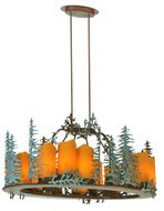 Meyda Tiffany 29523 Tall Pines Country Rust Finish 42 Wide Ceiling Chandelier
