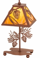Meyda Tiffany 30158 Whispering Pines Country Rust Side Table Lamp