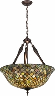 Meyda Tiffany 30466 Fishscale Tiffany Green / Blue Hanging Pendant Light