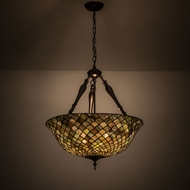 Meyda Tiffany 30466 Fishscale Tiffany Drop Ceiling Lighting