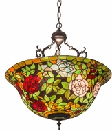 Meyda Tiffany 30469 Tiffany Rosebush Tiffany Ceiling Pendant Light