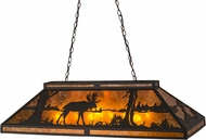 Meyda Tiffany 30488 Moose at Lake Amber Mica Island Light Fixture