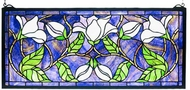 Meyda Tiffany 30705 Magnolia Tiffany Hanging Stained Glass Panel