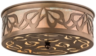 Meyda Tiffany 30854 Morning Glory Antique Copper/Verdi Flush Mount Lighting