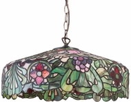 Meyda Tiffany 31096 Duffner & Kimberly Italian Renaissance Tiffany Satin Brass Drop Ceiling Light Fixture