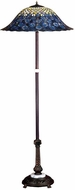 Meyda Tiffany 31104 Tiffany Peacock Feather 24 Inch Diameter 60 Inch Tall Standing Floor Lamp