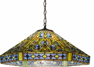 Meyda Tiffany 31118 Tiffany Elizabethan Tiffany Purple / Blue Drop Lighting