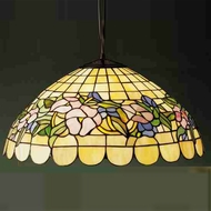 Meyda Tiffany 31137 Tiffany Pansy Tiffany Pendant Light