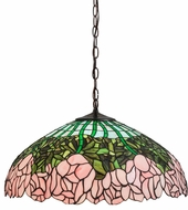 Meyda Tiffany 31144 Cabbage Rose Tiffany Purple / Blue / Pink Drop Ceiling Lighting