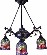 Meyda Tiffany 31184 Red Rosebud 4 Light Tiffany Chandelier