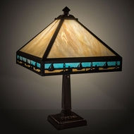 Meyda Tiffany 31297 Sailboat Craftsman Brown Table Lamp Lighting
