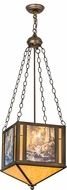 Meyda Tiffany 31422 Maxfield Parrish The Glen Tiffany Antique Copper Drop Ceiling Light Fixture