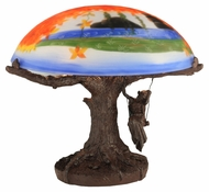 Meyda Tiffany 32108 Maxfield Parrish Reveries 13 Inch Tall Reverse Painted Table Top Lamp