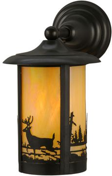 Meyda Tiffany 32203 Fulton Country Craftsman Brown Exterior Wall Lamp
