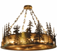 Meyda Tiffany 32206 Wildlife at Dusk Country Antique Copper Hanging Light