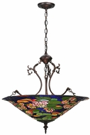 Meyda Tiffany 32313 Tiffany Pond Lily Tiffany Pendant Light Fixture