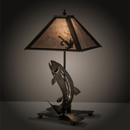 Meyda Tiffany 32531 Leaping Trout Antique Copper Table Lighting