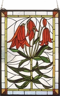 Meyda Tiffany 32660 Trumpet Lily Tiffany Hanging Stained Glass Art
