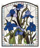 Meyda Tiffany 36074 Iris 20 Inch Wide Arched Square Stained Glass Wall D�cor