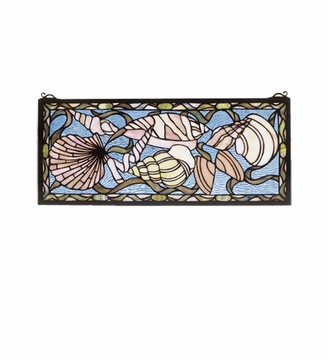 Meyda Tiffany 36431 Seashell Tiffany Stained Glass Home Wall Décor - 24 Inches Wide