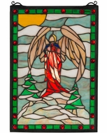 Meyda Tiffany 38118 Winter Angel Tiffany Stained Glass Window