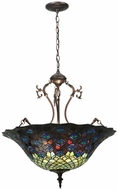 Meyda Tiffany 38159 Tiffany Peacock Feather Tiffany Hanging Pendant Light