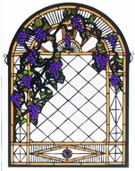 Meyda Tiffany 38327 Grape Diamond Trellis Tiffany Stained Glass Window