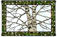 Meyda Tiffany 38538 Birch Tree in Winter Tiffany Stained Glass Window
