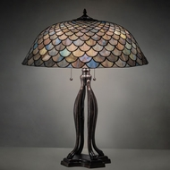 Meyda Tiffany 38594 Tiffany Fishscale Tiffany Mahogany Bronze Table Light