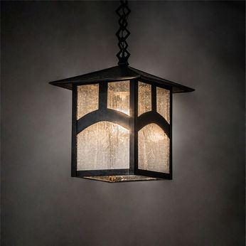 Meyda Tiffany 39255 Seneca Mission Craftsman Brown Outdoor Mini Pendant Lighting
