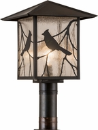 Meyda Tiffany 41733 Sequoia Song Bird Country Zasdy Craftsman Exterior Post Lighting