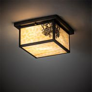 Meyda Tiffany 46268 Hyde Park Craftsman Craftsman Brown Ceiling Light
