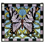 Meyda Tiffany 46464 Butterfly Stained Glass 23 Inch Tall Wall D�cor
